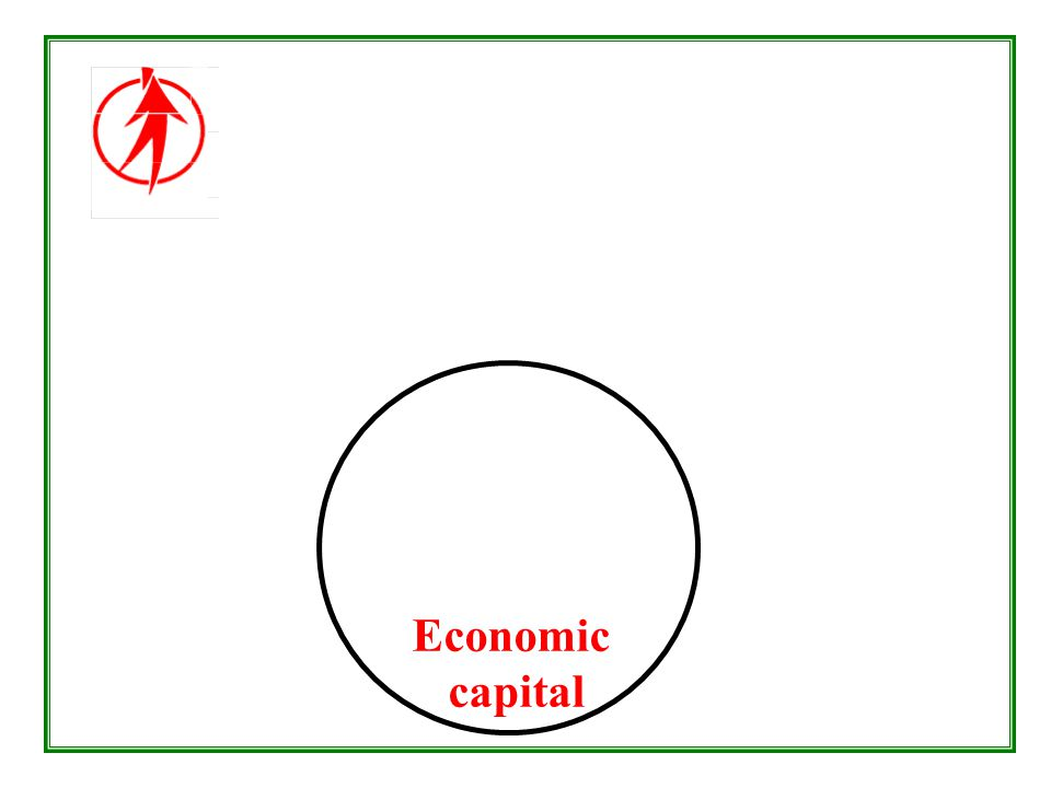 Economic capital - the means creation of adequate wealth and healthy jobs equitable distribution of wealth and income ecologically sustainable development