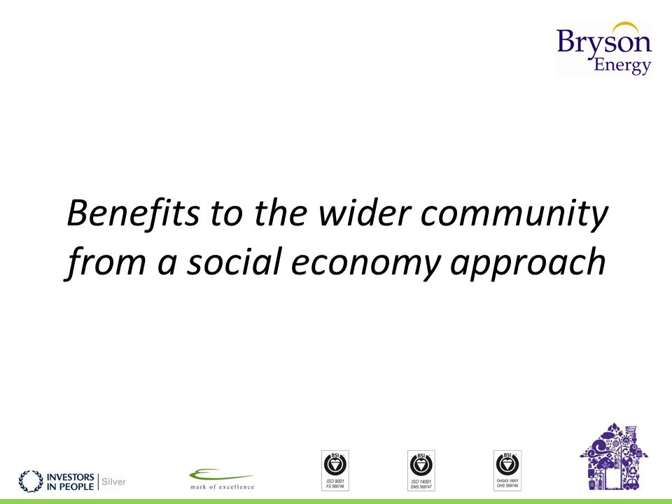 Benefits to the wider community from a social economy approach