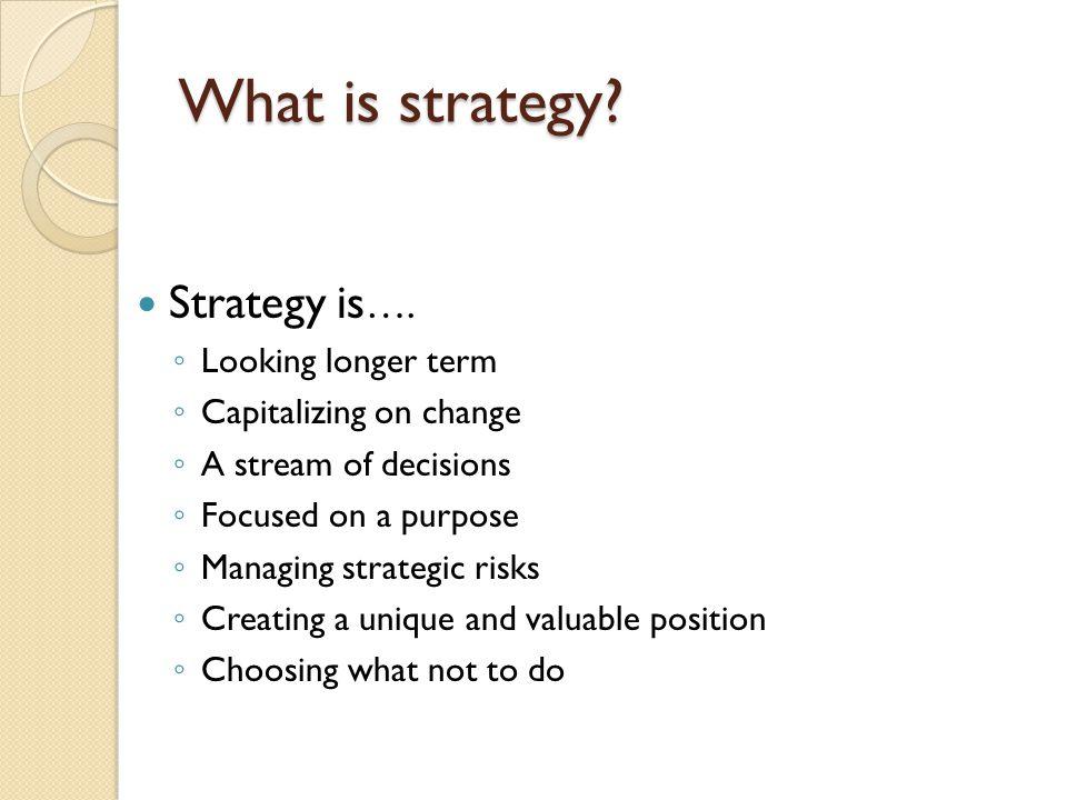 Strategies for Success in Turbulent Times: Ten Strategic Initiatives 1.