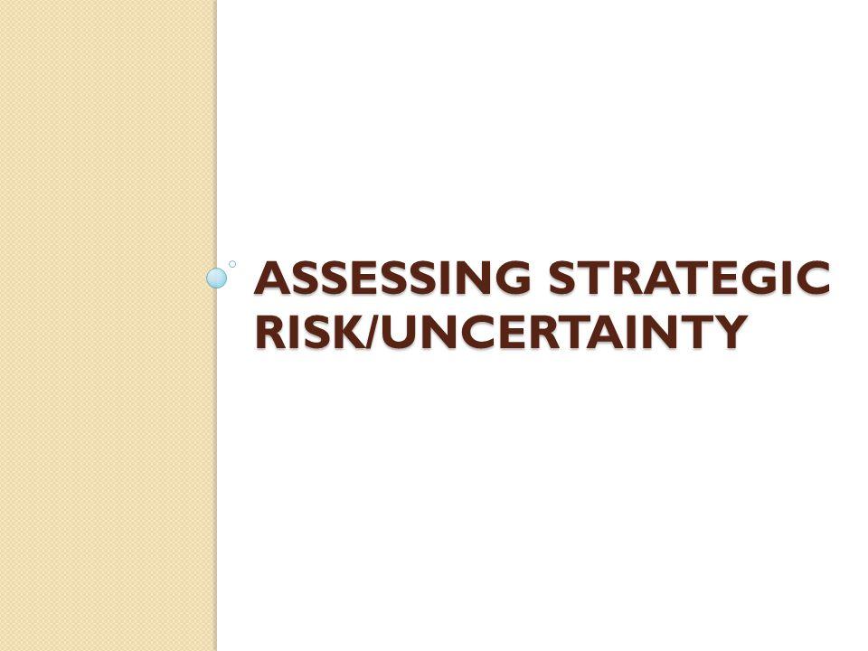 ASSESSING STRATEGIC RISK/UNCERTAINTY