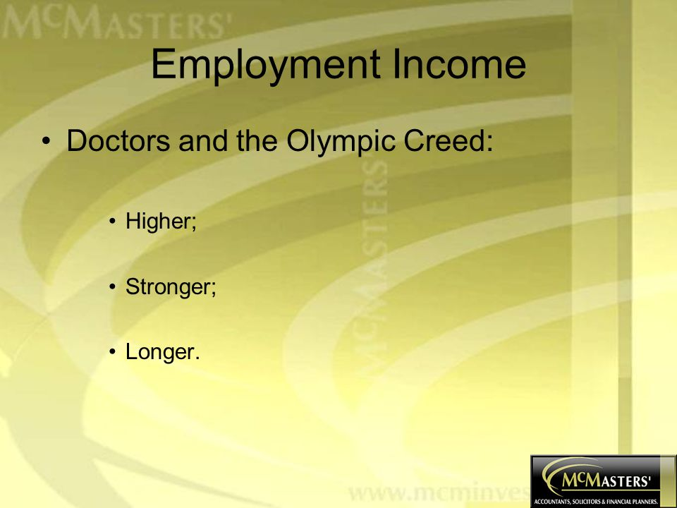 Employment Income: Doctors and Non Doctors