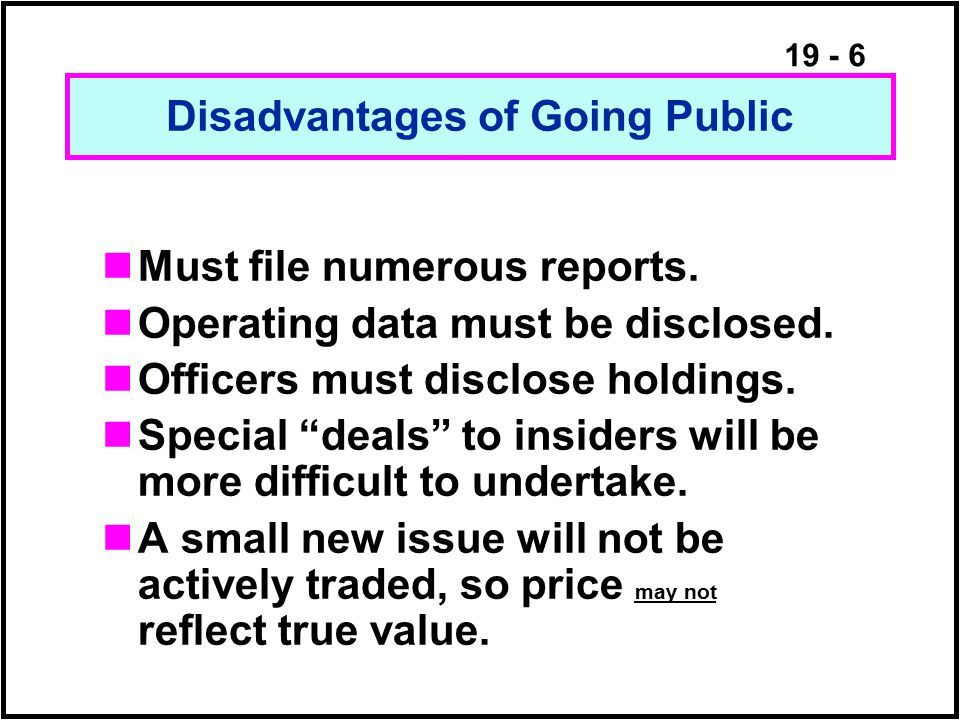 19 - 87 Advantages of Repurchases Stockholders can tender or not.
