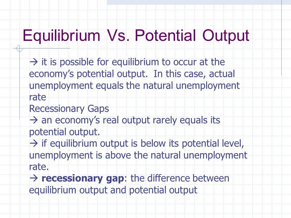 Equilibrium Vs.