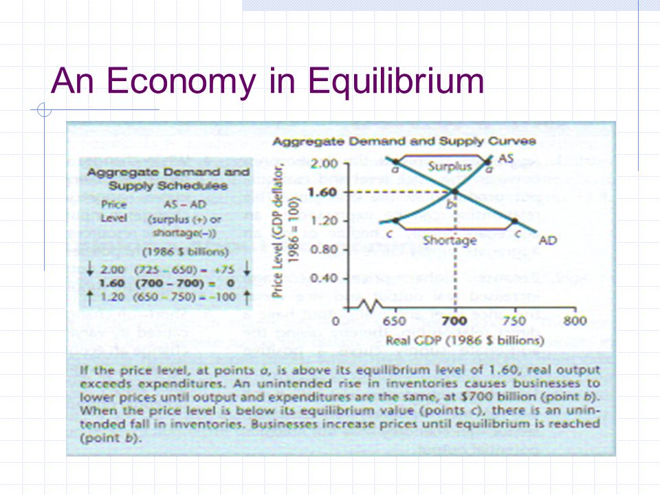 An Economy in Equilibrium