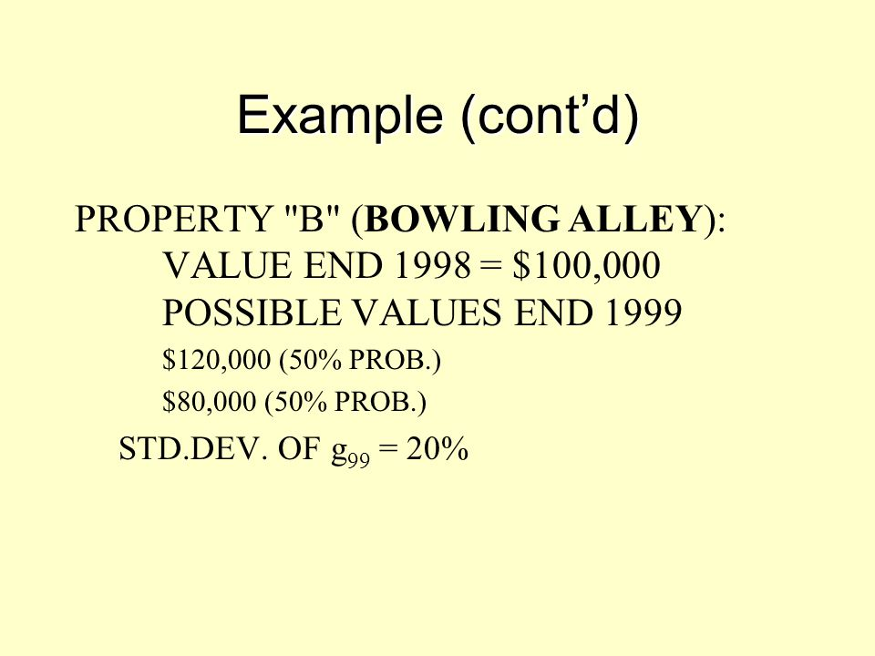Example (cont'd) PROPERTY