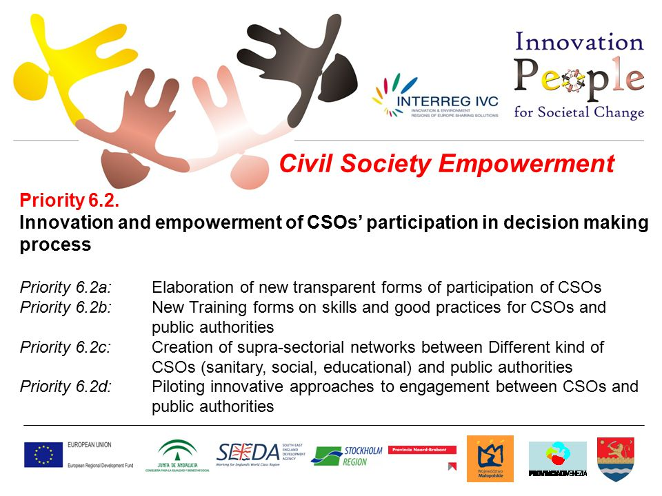 Civil Society Empowerment Priority 6.2.