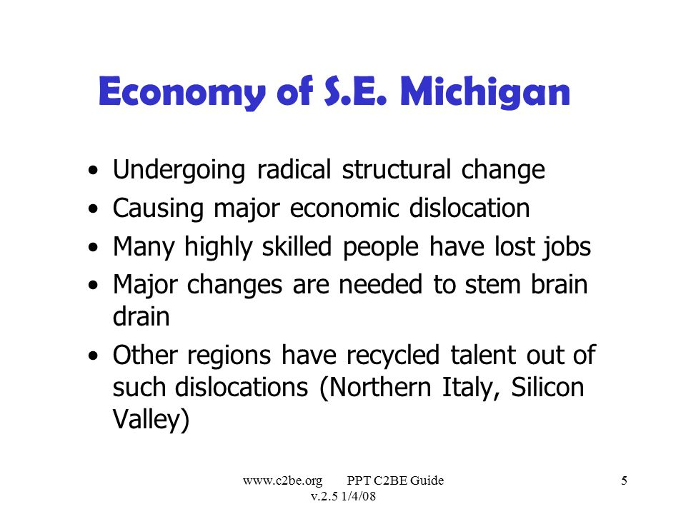 www.c2be.org PPT C2BE Guide v.2.5 1/4/08 16 Talent Magnet C2BE, Ingenuity US will attract & retain new & existing talent to the region because: Ingenuity US/IPCG will be a unique, innovative & exciting business group: Creating new products & technologies; While fostering community & addressing financial, social & environmental bottom lines.
