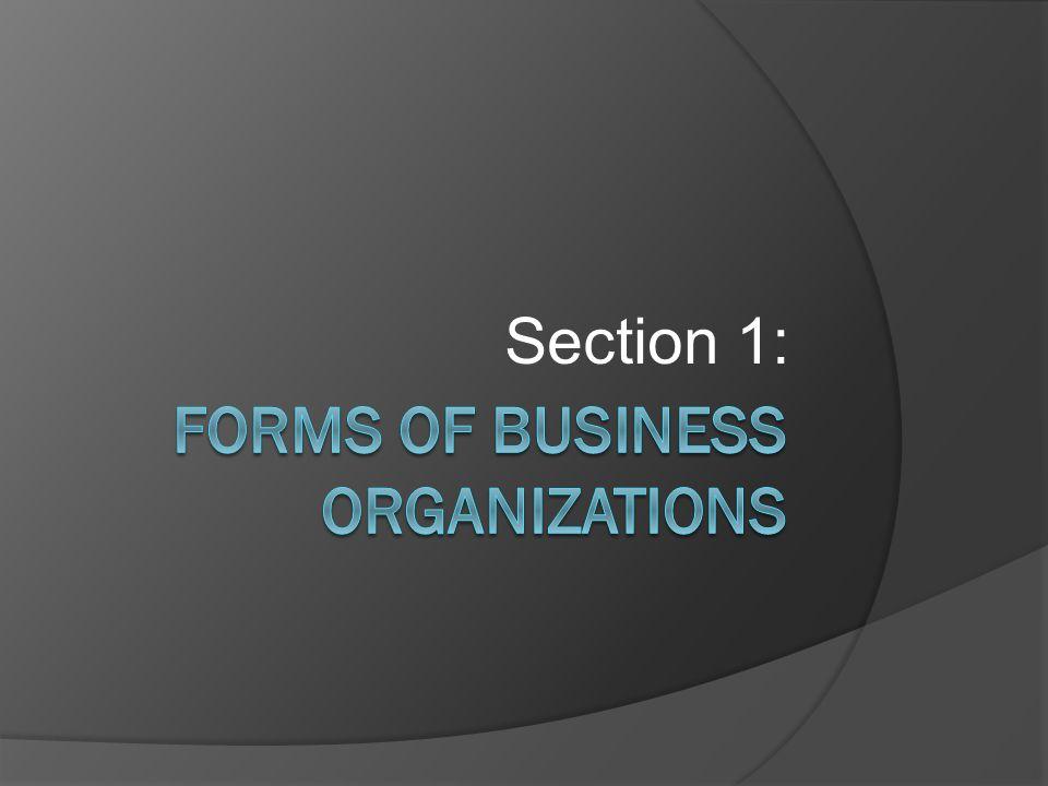 3 Types  Sole-Proprietorships  Partnerships  Corporations