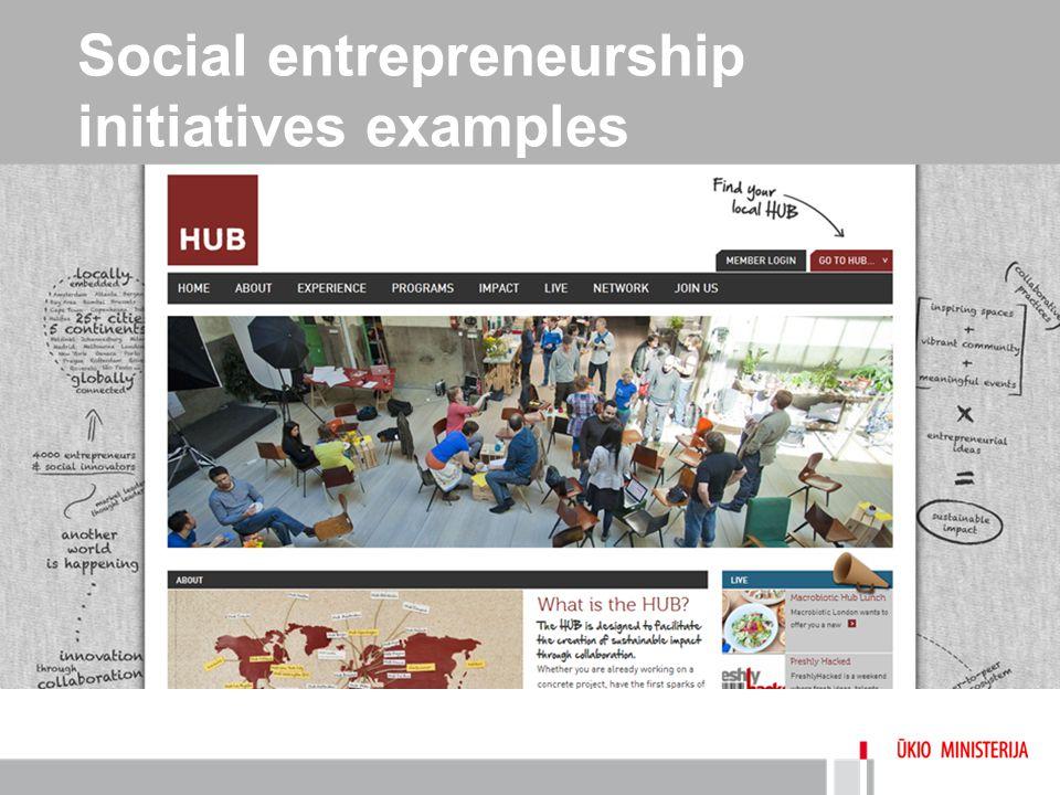 Social entrepreneurship initiatives examples