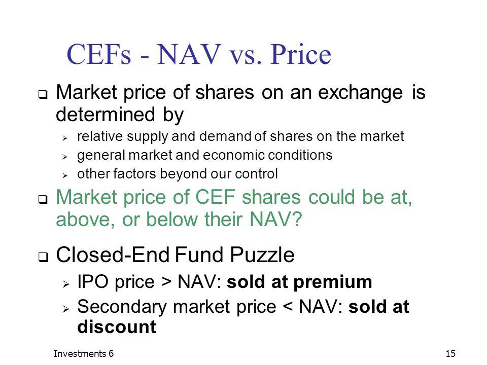 Investments 615 CEFs - NAV vs.
