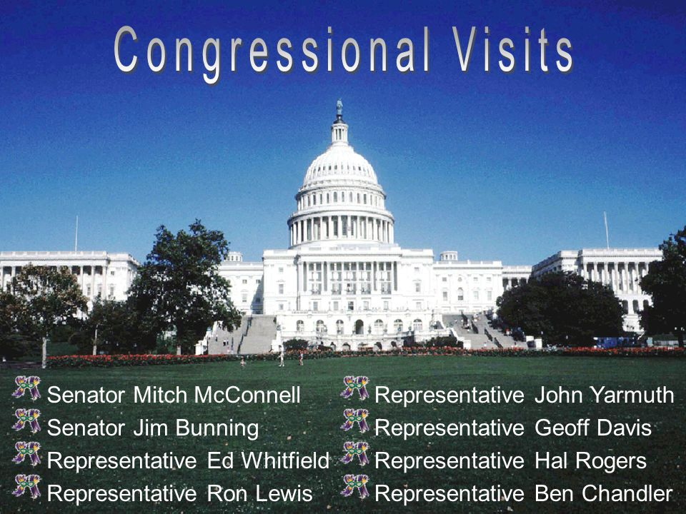 Senator Mitch McConnell Senator Jim Bunning Representative Ed Whitfield Representative Ron Lewis Representative John Yarmuth Representative Geoff Davis Representative Hal Rogers Representative Ben Chandler