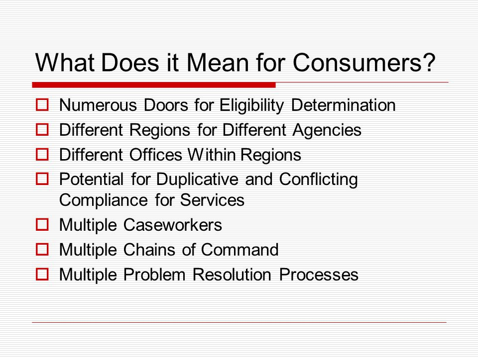 What Does it Mean for Consumers.