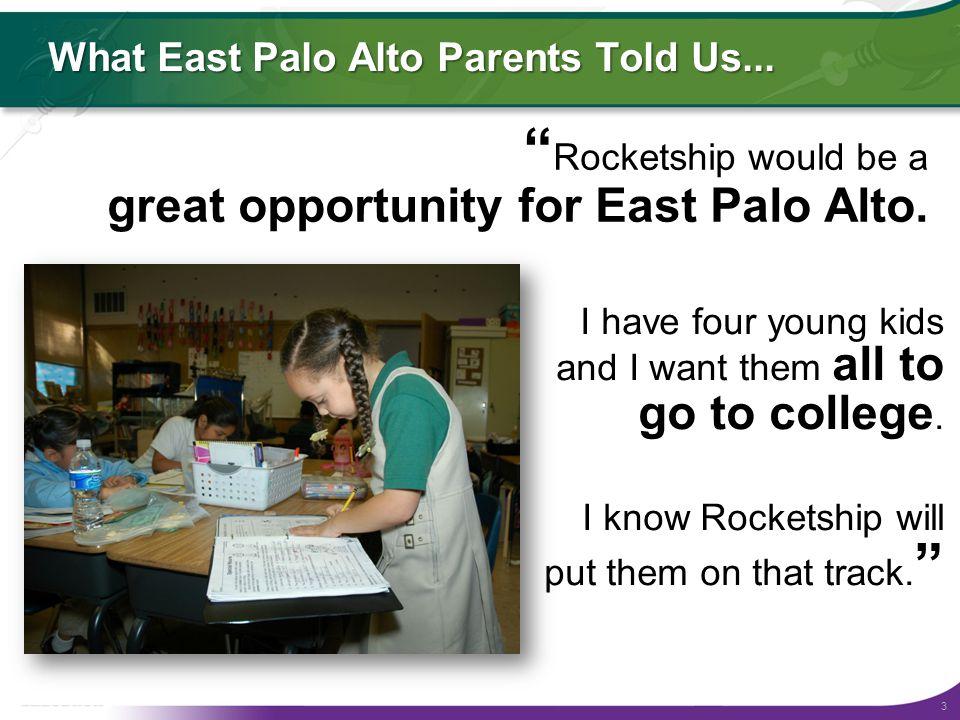 3 What East Palo Alto Parents Told Us...