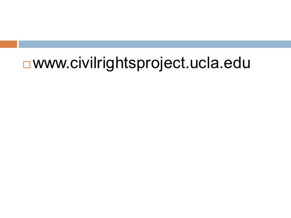  www.civilrightsproject.ucla.edu