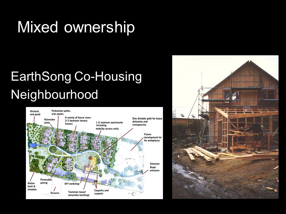 Mixed ownership EarthSong Co-Housing Neighbourhood
