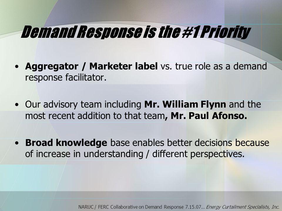 Aggregator / Marketer label vs. true role as a demand response facilitator.