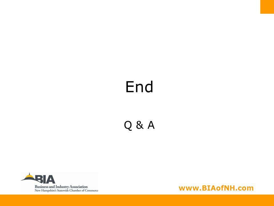 www.nhbia.org www.BIAofNH.com End Q & A