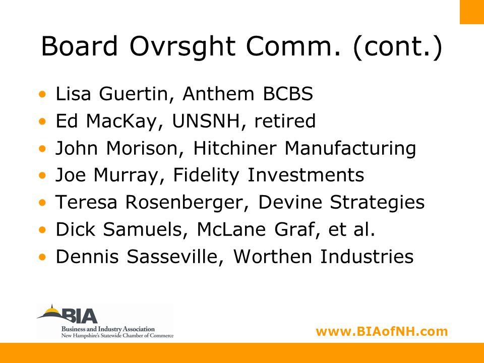 www.nhbia.org www.BIAofNH.com Board Ovrsght Comm.