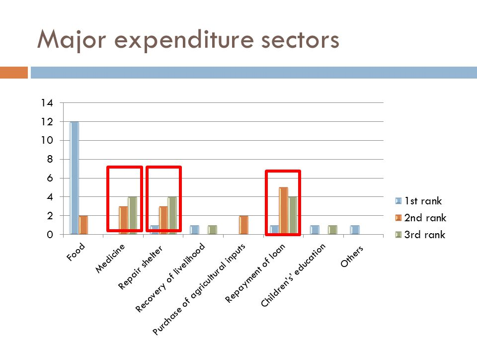 Major expenditure sectors