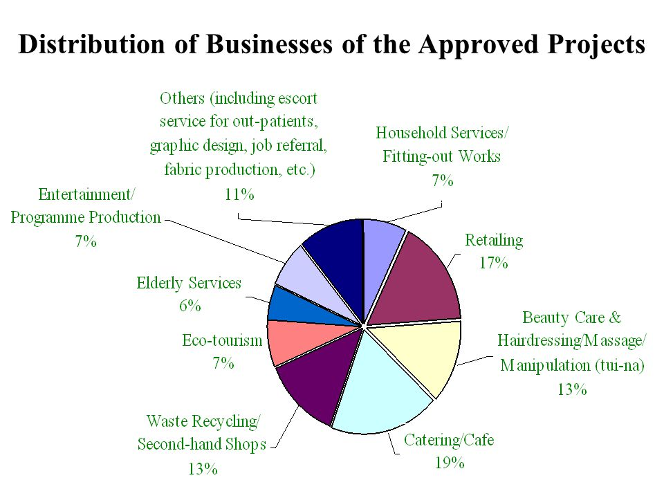 11 Distribution of Businesses of the Approved Projects 11