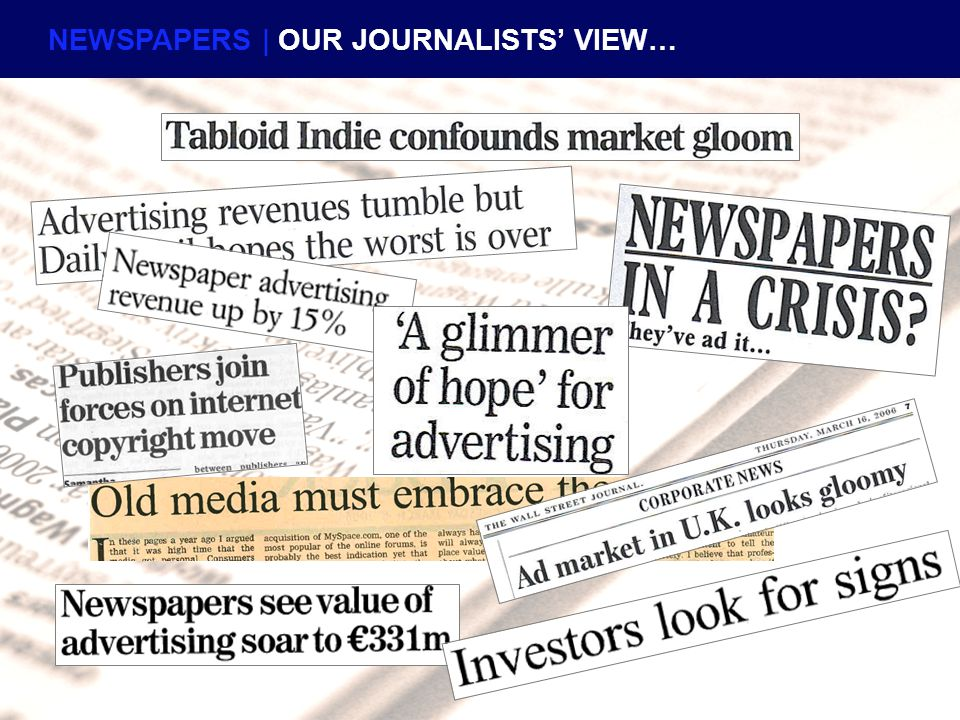 NEWSPAPERS | OUR JOURNALISTS' VIEW…