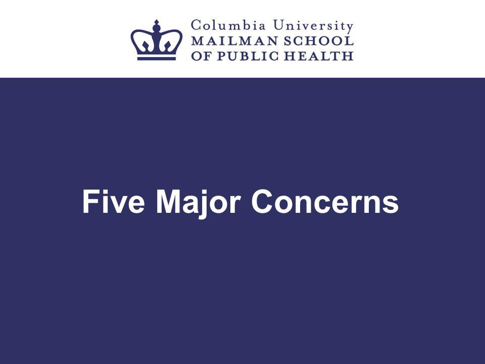 Five Major Concerns