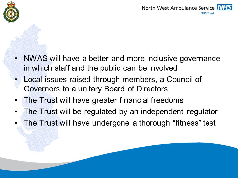 MembersGovernors Non-executive Directors Executive Directors Accountable to Appoints Membership Appointment and Reporting Lines