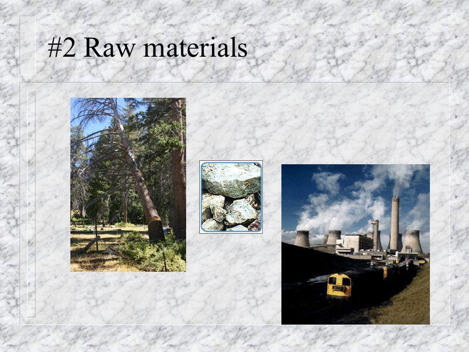 #2 Raw materials