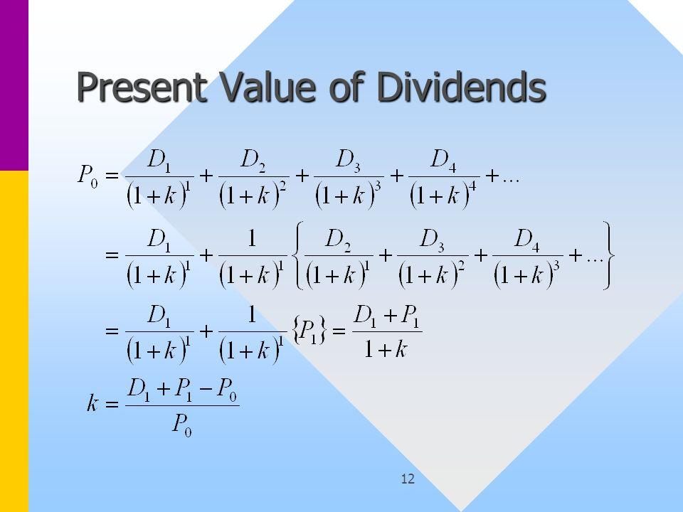 12 Present Value of Dividends
