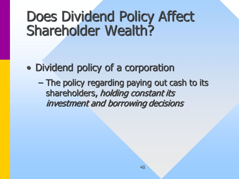 48 Does Dividend Policy Affect Shareholder Wealth.