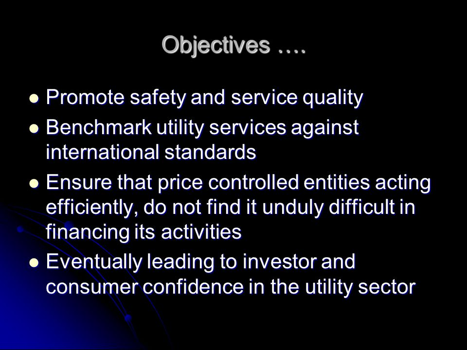 Objectives ….