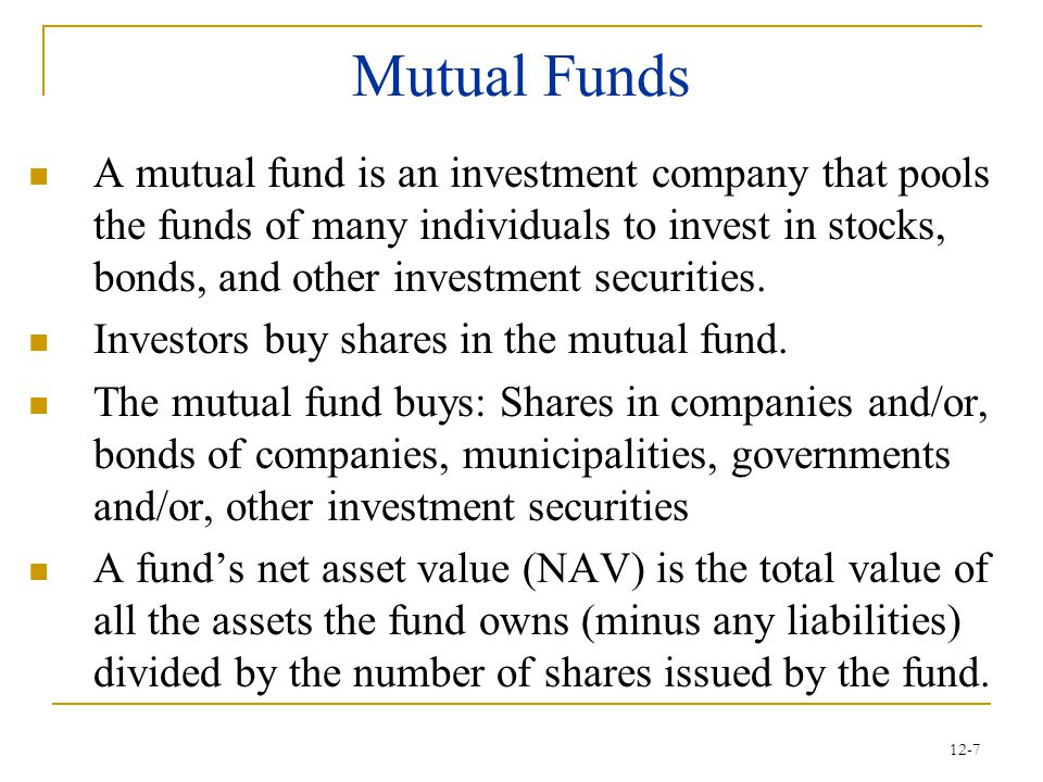 12-28 Investment Clubs Characteristics  Low monthly contributions such as $25 – $50  Members do research on specific stocks  Frequent meeting, usually monthly Advantages  Diversification  Help with investing research workload  Possibility of a profit  Fun and fellowship Disadvantage  Too much fun, not enough research