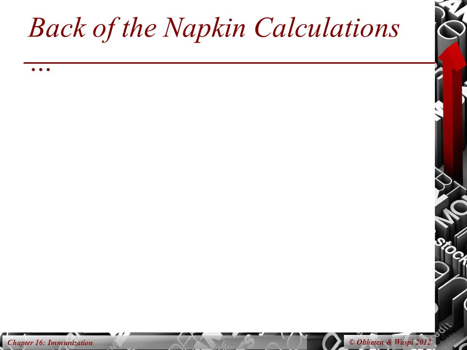 Chapter 16: Immunization Back of the Napkin Calculations … © Oltheten & Waspi 2012
