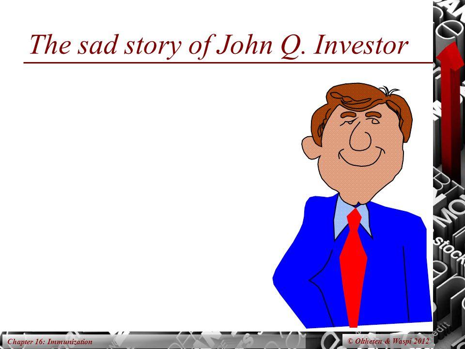 Chapter 16: Immunization The sad story of John Q. Investor © Oltheten & Waspi 2012