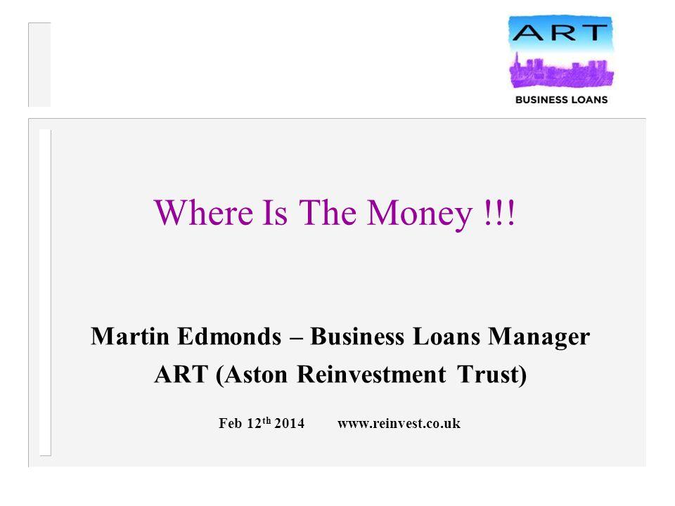 What Money Is There ?  Loans  Equity  Grants  ……………………….  Peer 2 Peer  Crowdfunding
