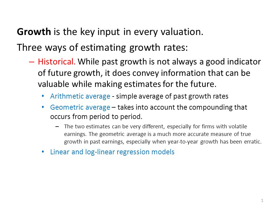 – Analyst estimates of growth.