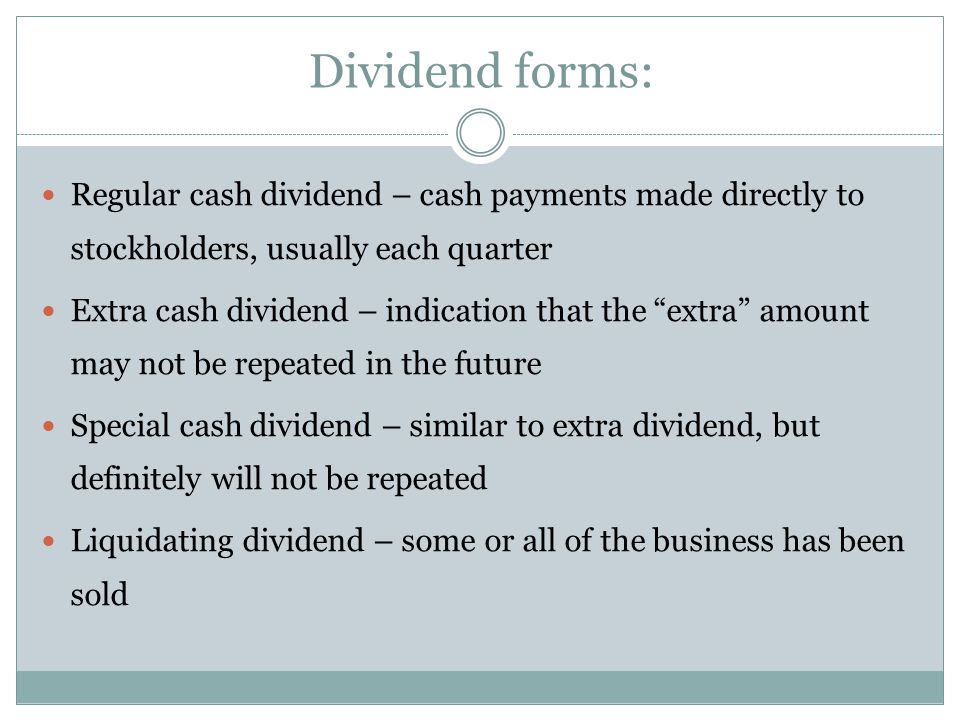 Dividend Payment 1. Dividend per share 2. Dividend yield 3. Dividend payout