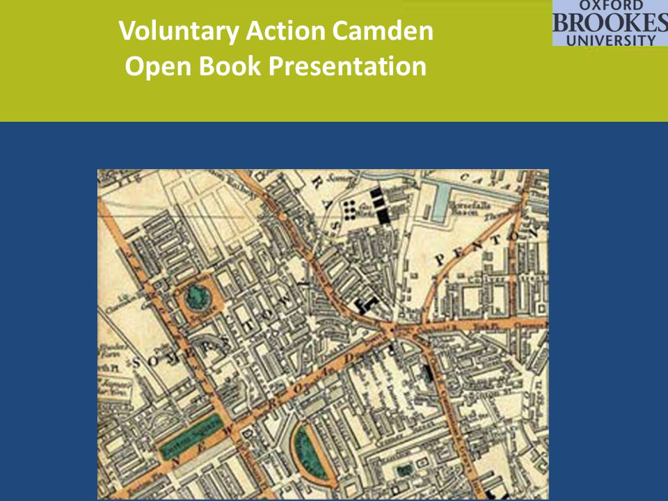 Voluntary Action Camden Open Book Presentation