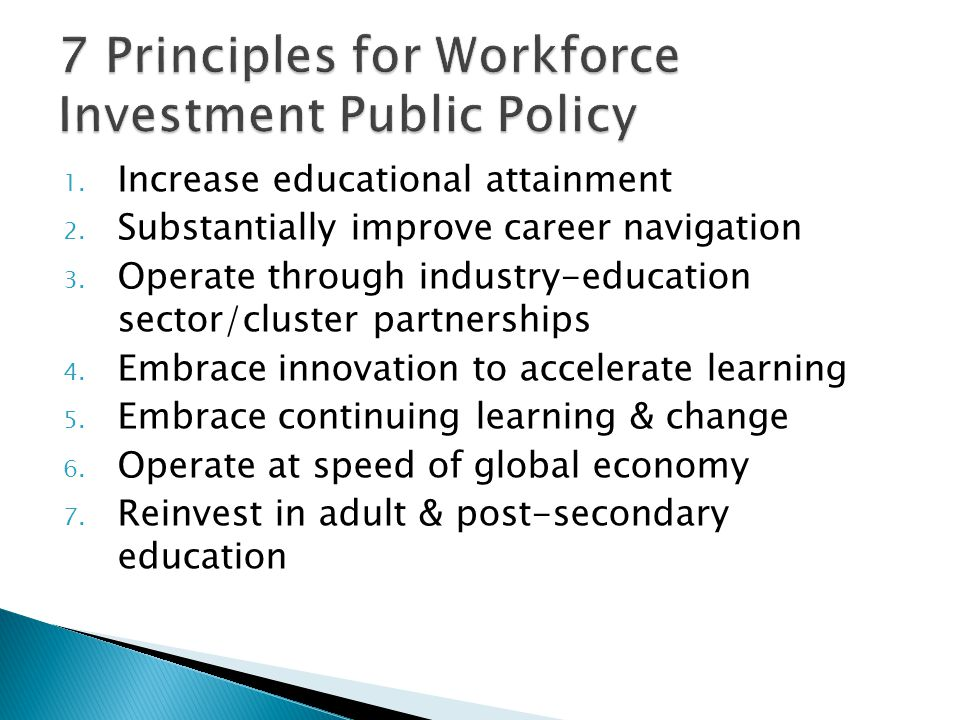 1. Increase educational attainment 2. Substantially improve career navigation 3.
