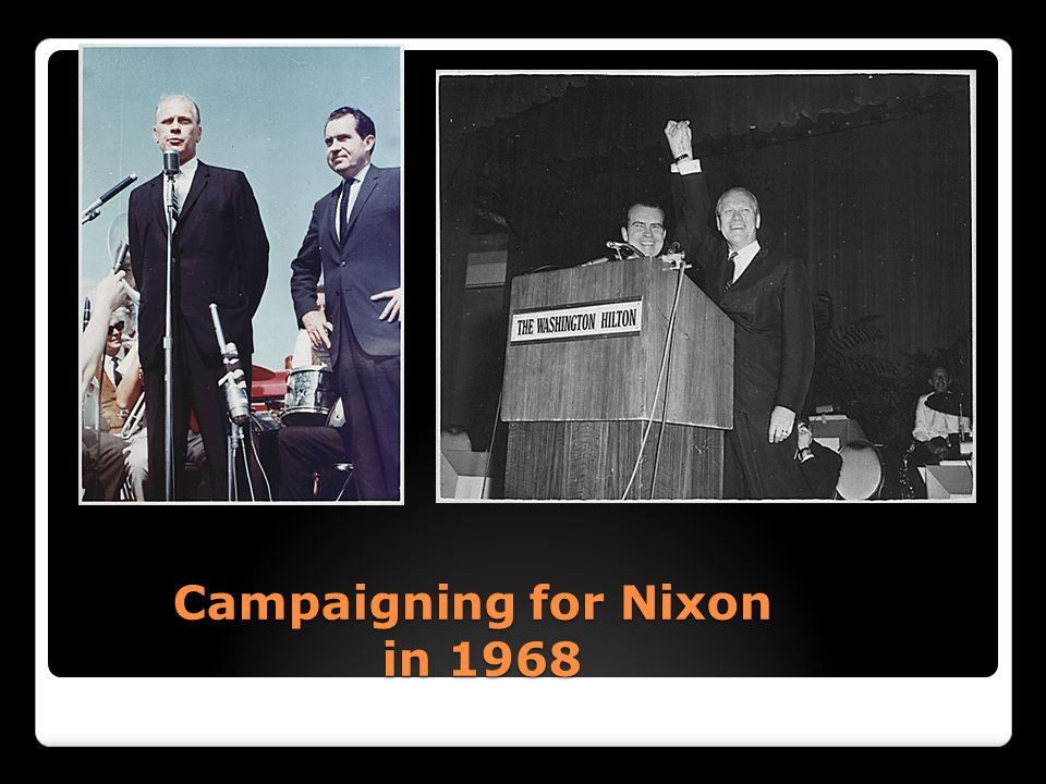 Campaigning for Nixon in 1968