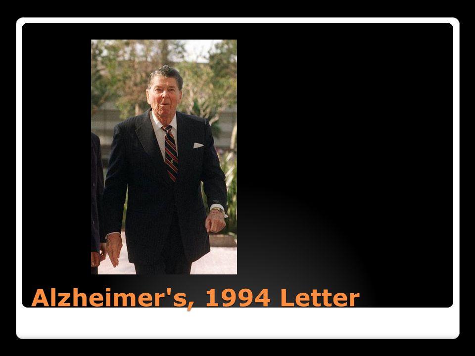 Alzheimer's, 1994 Letter