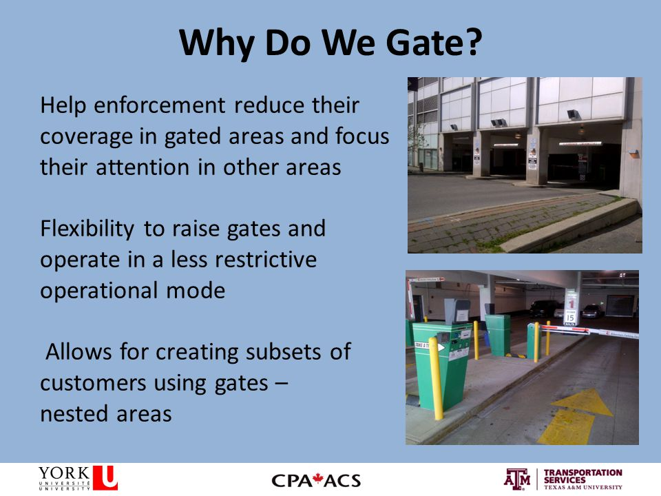 Why Do We Gate.