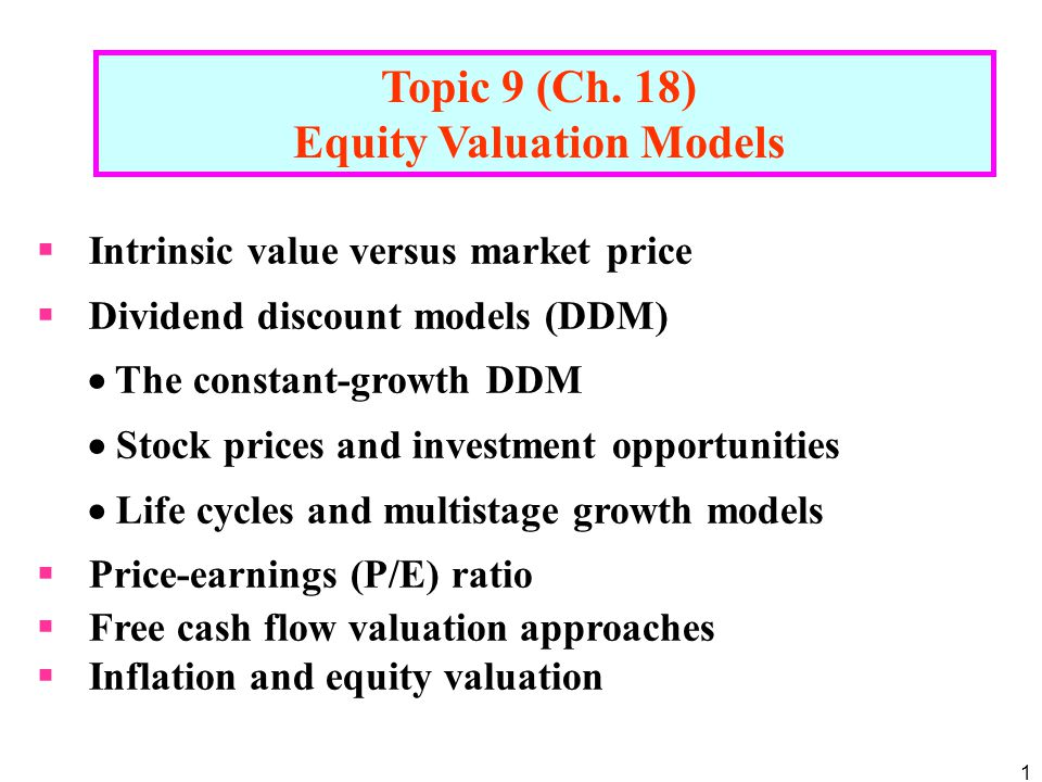 52 (g: the steady growth rate)  Equity value = value of the firm  market value of debt