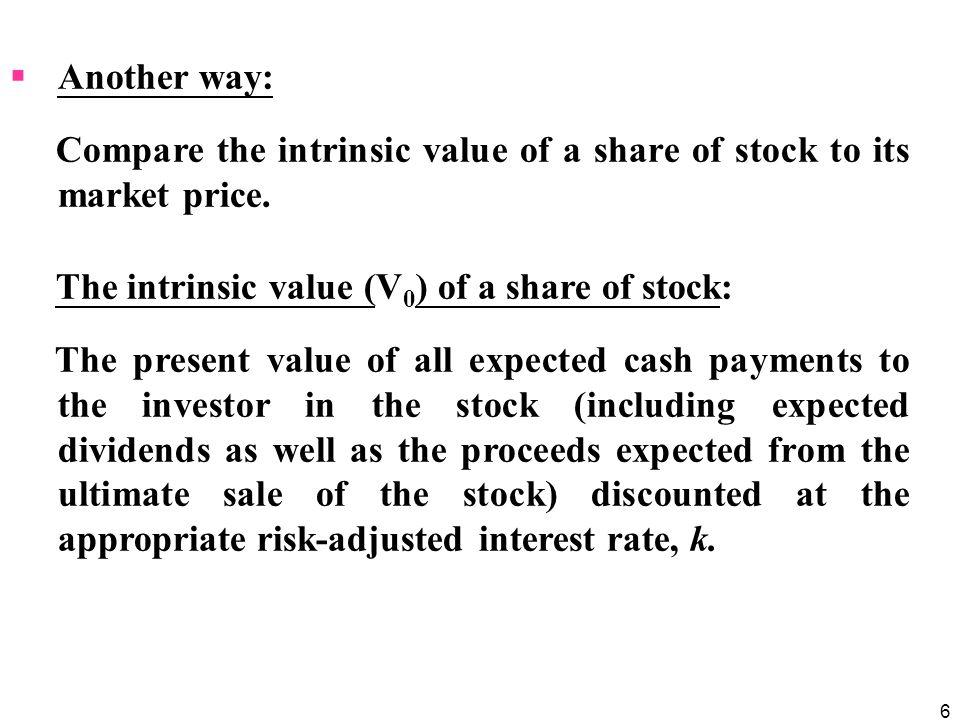 7 Whenever the intrinsic value (i.e.