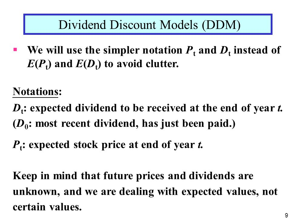 10 Suppose the investor holds stock for 1 year, then sell.