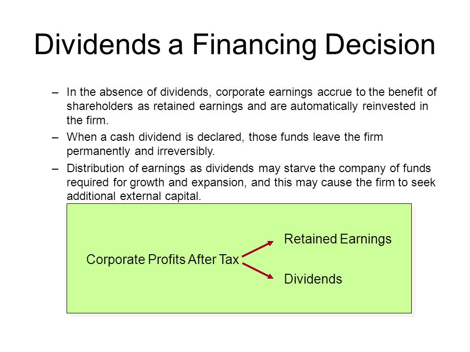 Dividend Policy in Practice Residual dividend policy Constant growth dividend policy – dividends increased at a constant rate each year Constant payout ratio – pay a constant percent of earnings each year Compromise dividend policy
