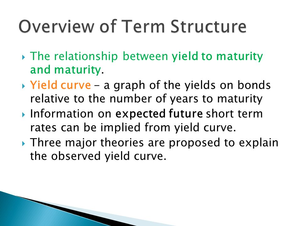  Short-term investors dominate the market  Forward rates contain a liquidity premium and are not equal to expected future short-term rates.