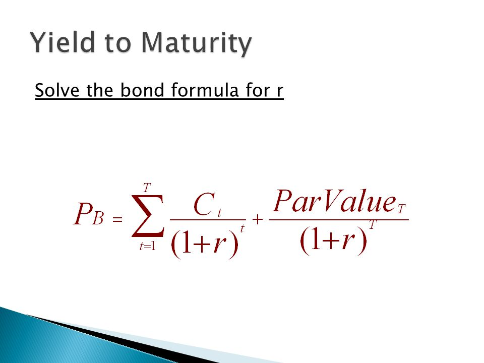  PV n = Present Value of $1 in n periods  r 1 = One-year rate for period 1  r 2 = One-year rate for period 2  r n = One-year rate for period n