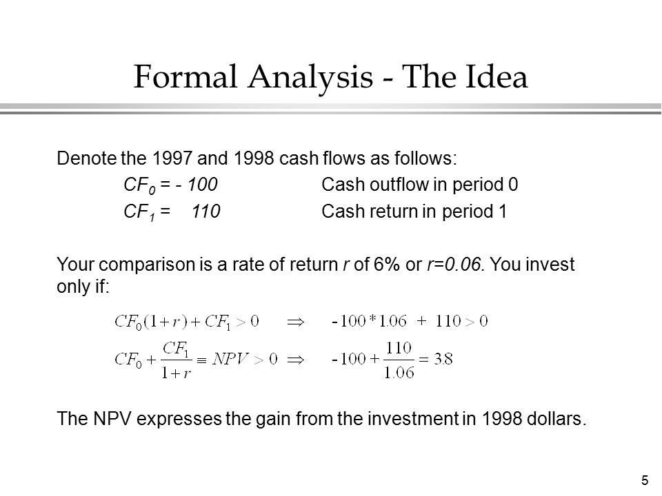 36 Payback Method l Calculate the time for cumulative cash flows to become positive l The shorter the payback the better Advantages l Does not demand input cost of capital l Don ' t need to be able to multiply l Gives a feel for time at risk