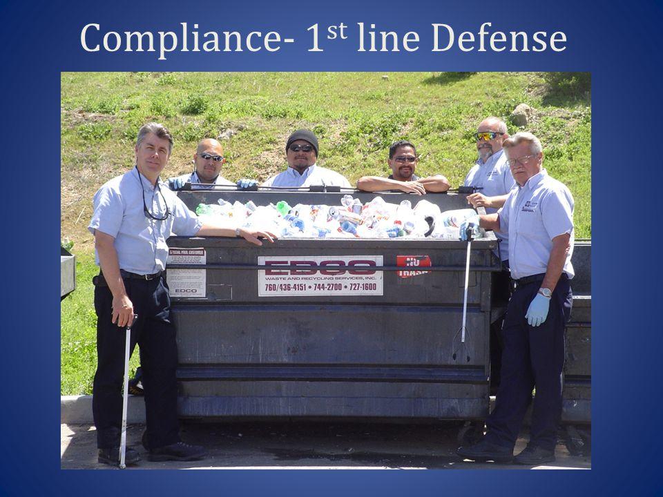 Compliance- 1 st line Defense